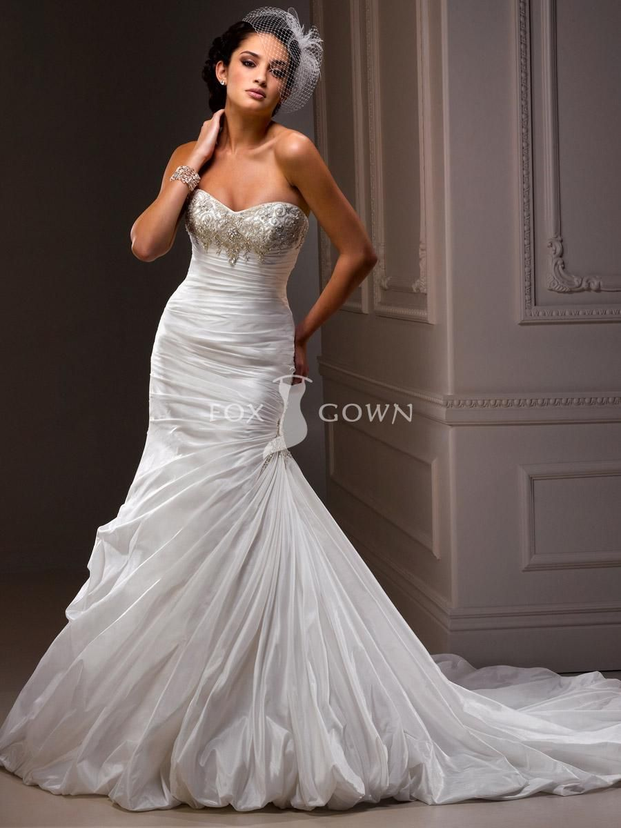 Sprinkled Taffeta Strapless Wedding Gown With Beaded Bodice And Dramatic Bubble Hem A Line Wedding Dress Sweetheart Bridal Gown Sottero Wedding Dress [ 1200 x 900 Pixel ]