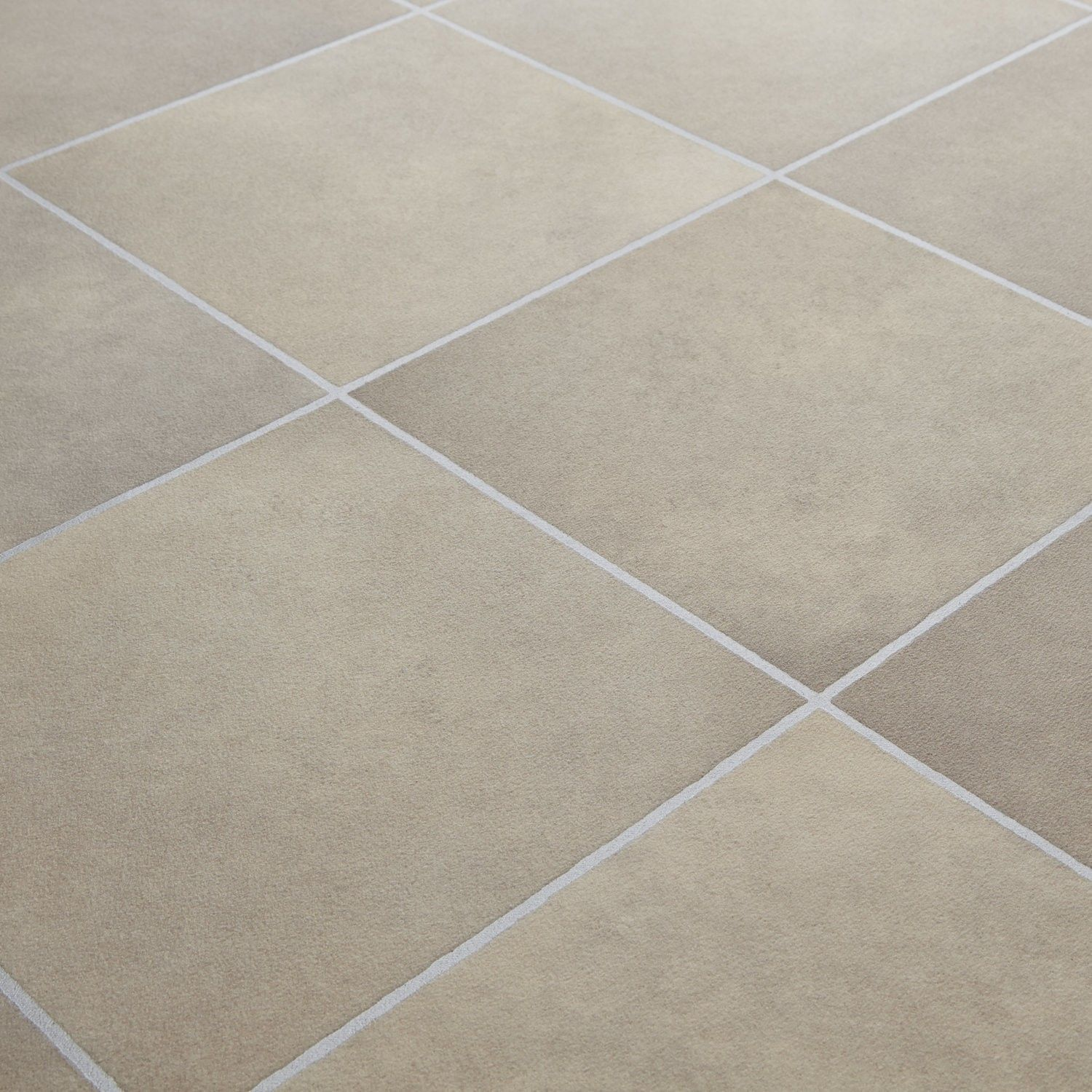 Vinyl Floor Tiles Kitchen 1199 Rhino Classic Cottage Beige Grey Stone Tile Effect Vinyl