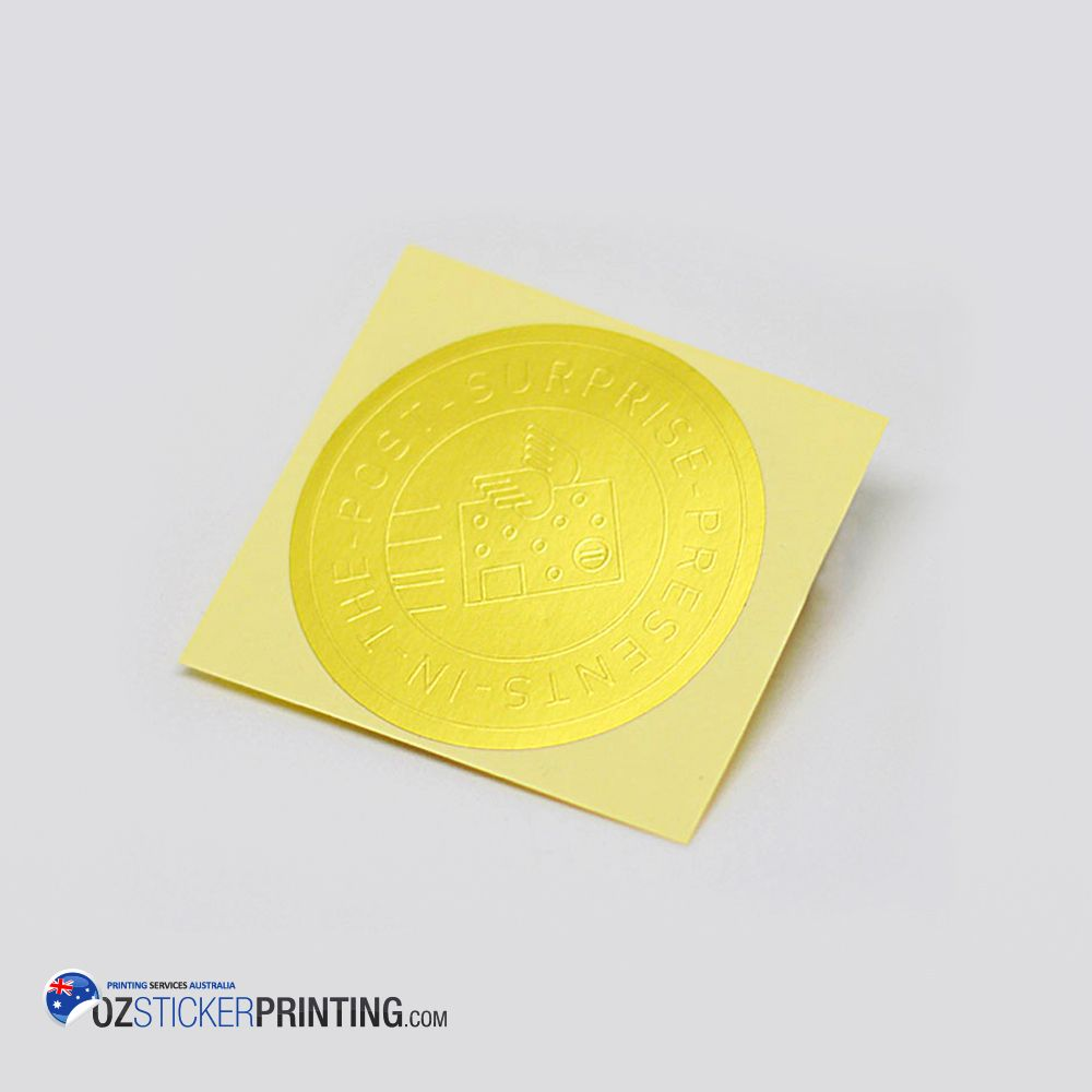 You can get embossed stickers printing in many different colors