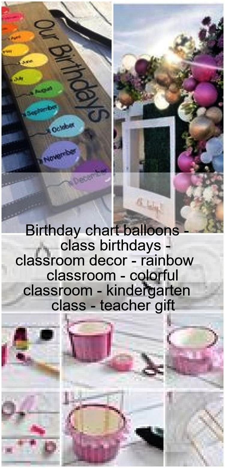balloons - class birthdays - classroom decor - rainbow classroom - colorful cl... Birthday chart ba