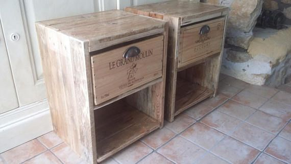 Table Night Bedside Table In Pallet Wood Wood Night Table Wood Pallets Night Table