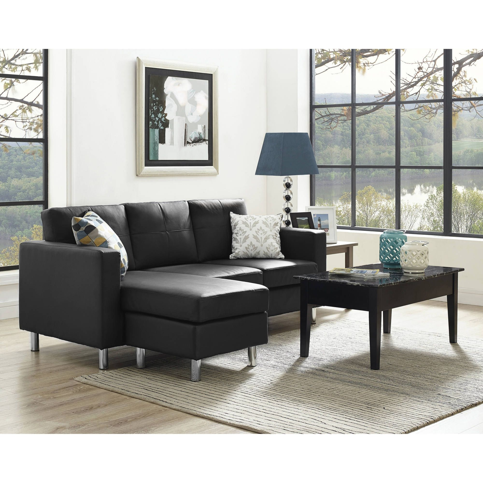 Dorel small spaces sectional sofa mlr pinterest