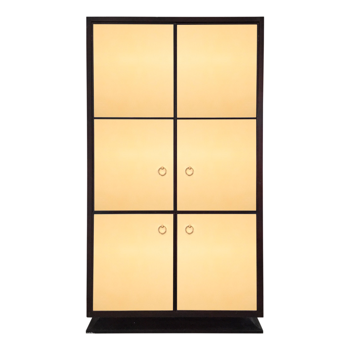 Ralph Lauren For Henredon Leather Media Armoire Front View