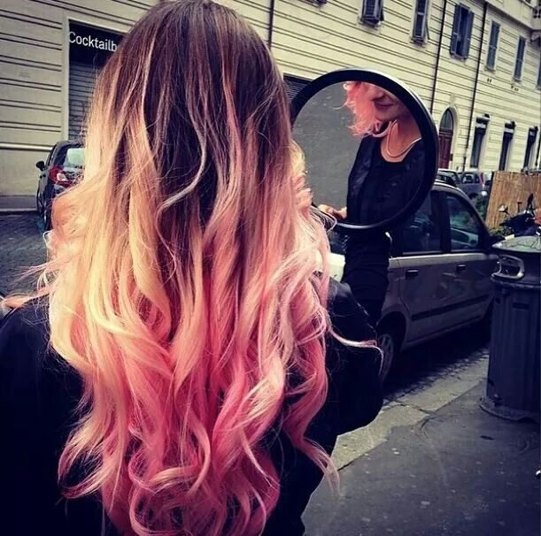 #color #pink #blonde