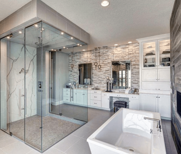30 Stunning Master Bathroom with Soaking Tub Ideas (With ...