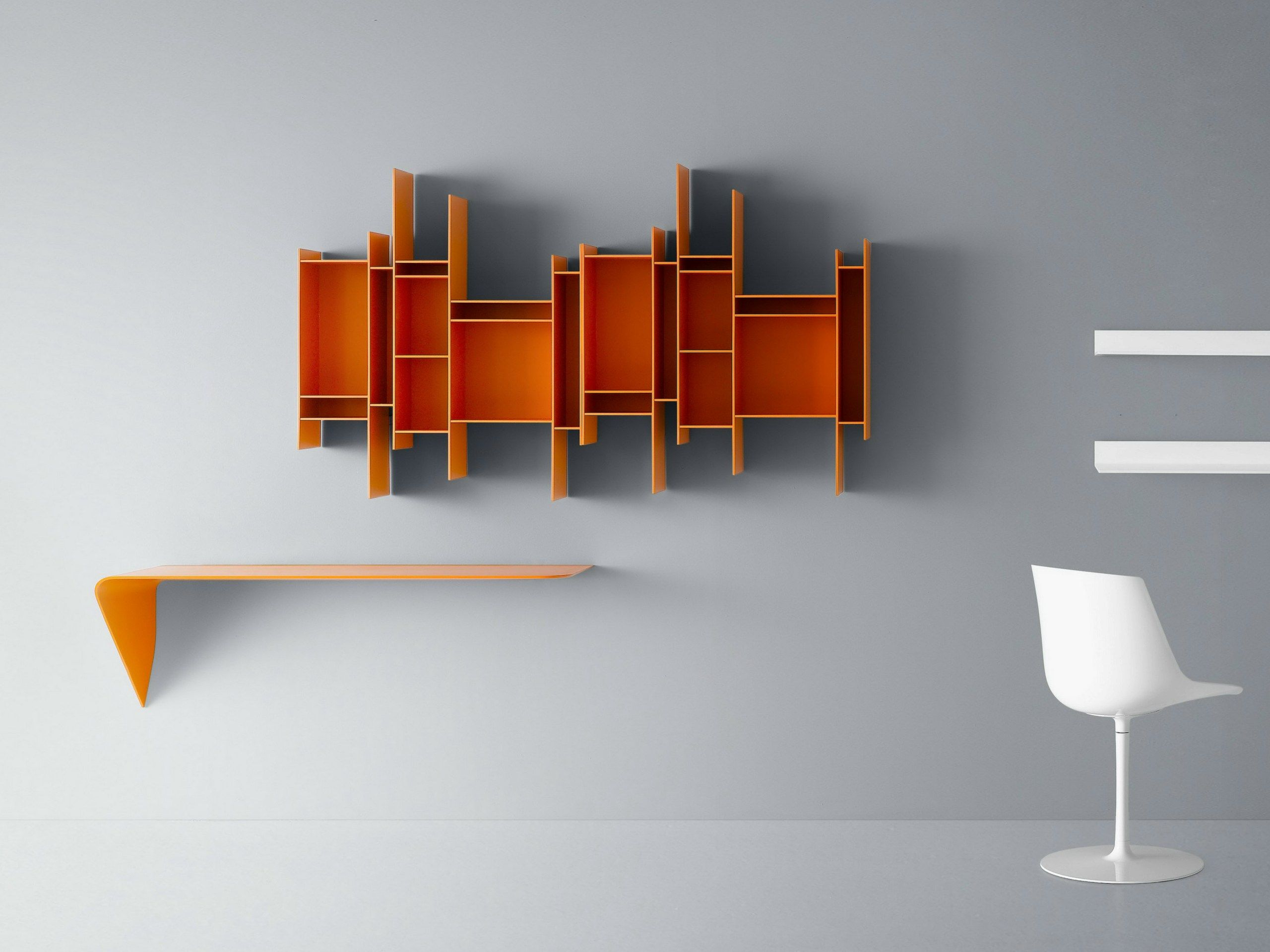 open wallmounted mdf bookcase randomito random collection by mdf  - open wallmounted mdf bookcase randomito random collection by mdf italia design neuland industriaedesign