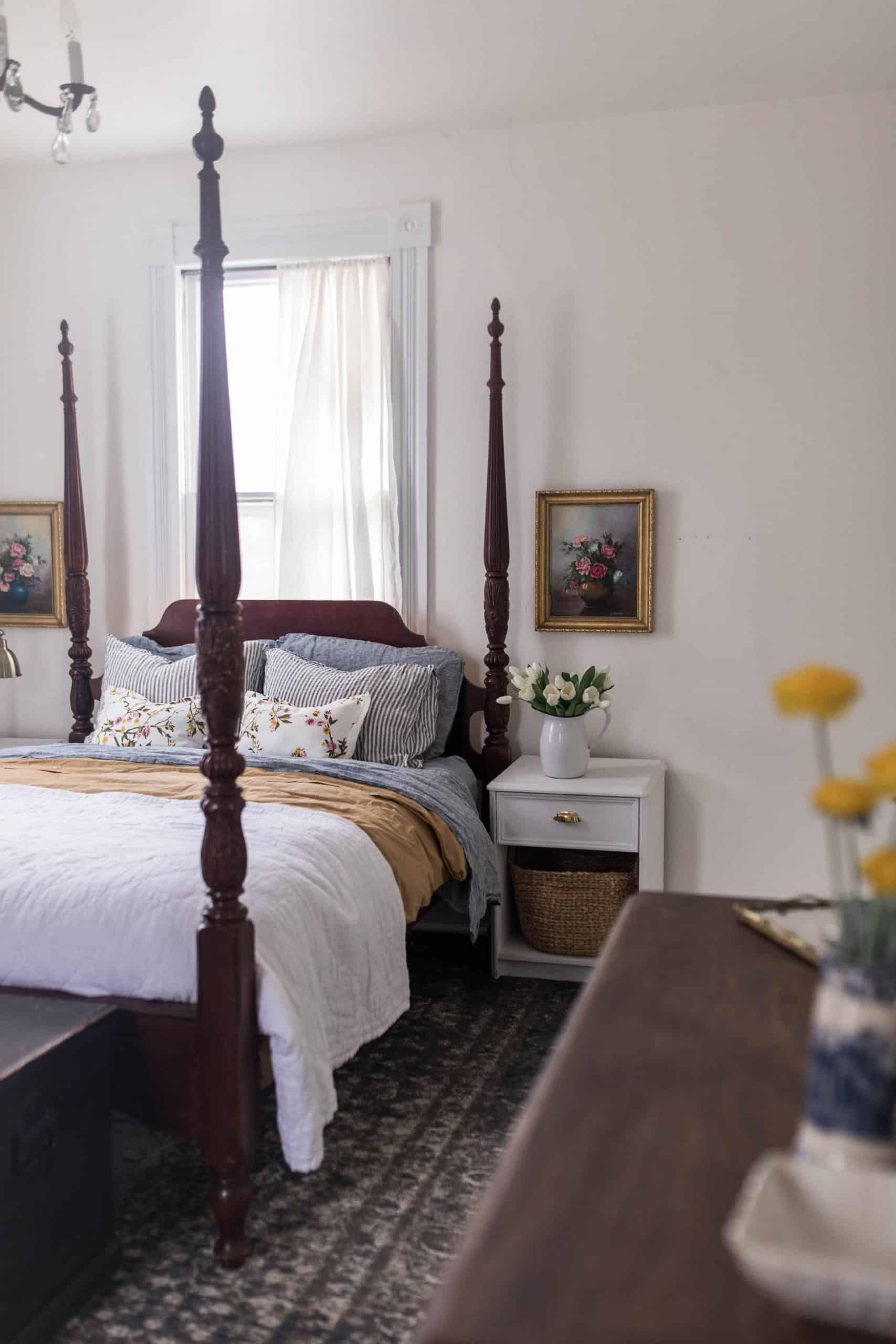 Victorian Farmhouse Bedroom Spring Makeover Victorian