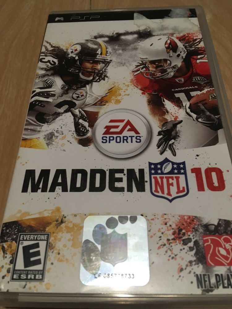 PSP EA SPORTS MADDEN NFL 10 SONY PSP, 2009 VIDEO GAME LOOK
