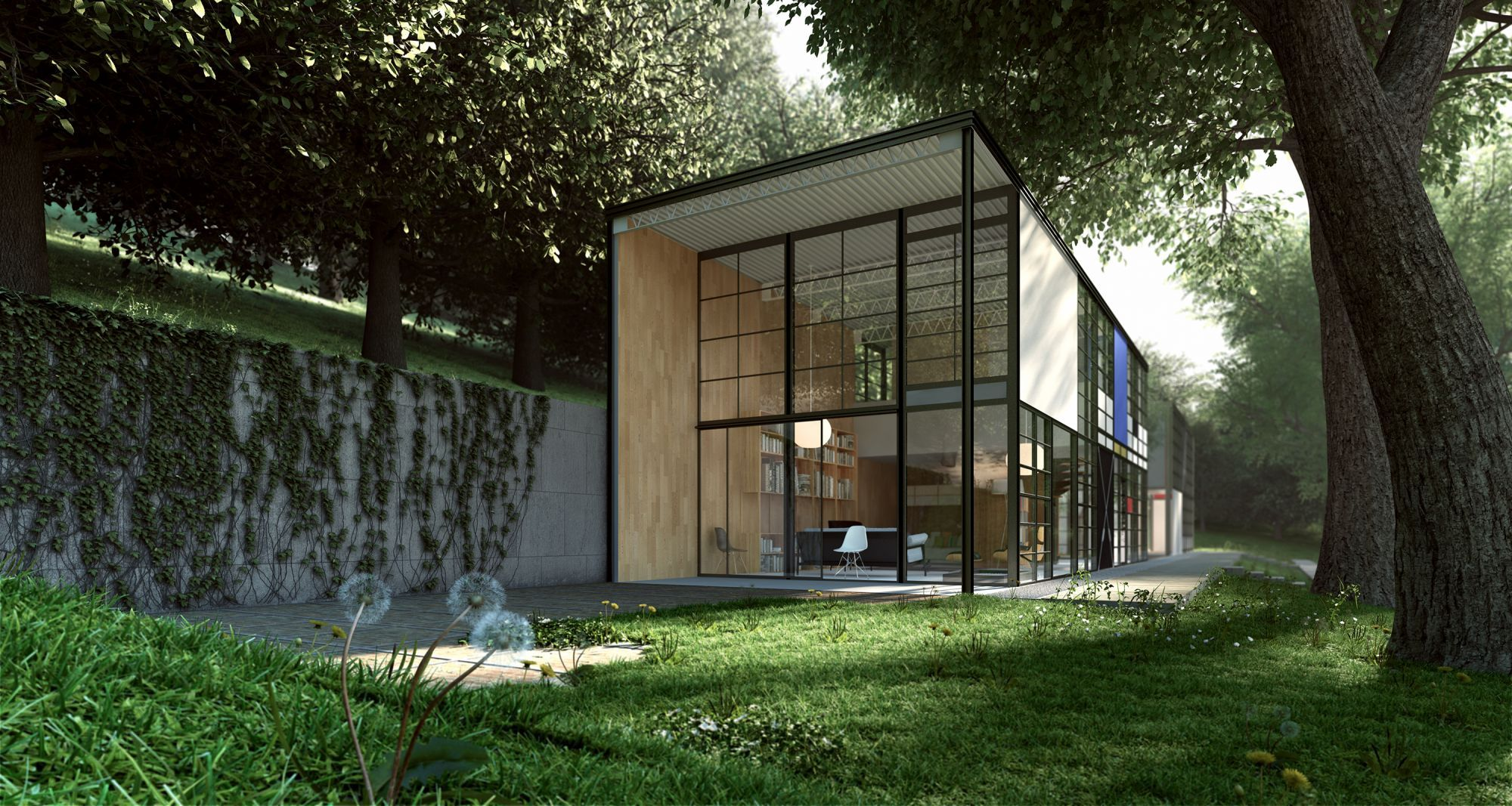Eames house by charles and ray eames los angeles - Modern interior doors los angeles ...