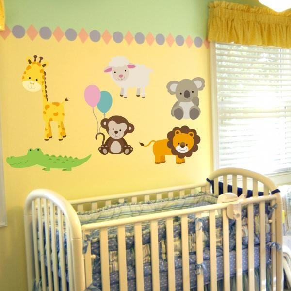 Nursery Zoo Animal Wall Decals Animal Decal Set Wall Decal World Zoo Nursery Decor Animal Wall Decals Zoo Nursery