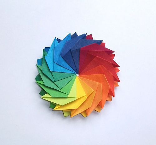 Gear Flower Front Side Rainbow Color Wheel Projects Color