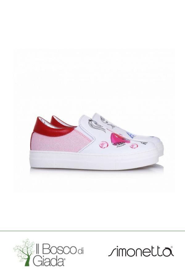 release date 6a867 51628 Slip On bianco/rosso Simonetta - Slip on bianca e rossa in ...