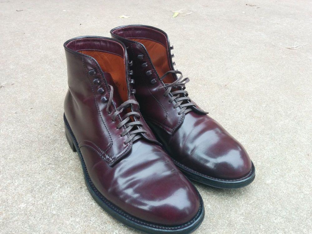 4ac1347a16 Alden AF53  8 Shell Cordovan Plain Toe Boot  Alden  AnkleBoots