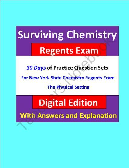 Surviving Chemistry Regents Exam: Questions for Exam Practice