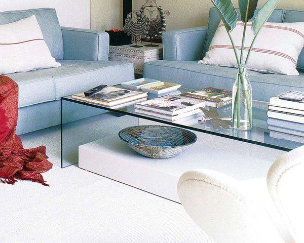 Mesas de centro de cristal para tu salón | all.deco-sala mesas ...