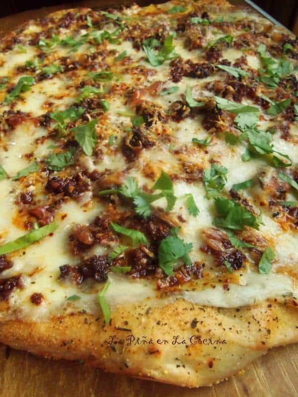 Mexican Chorizo White Pizza~Beer Dough Crust, #chorizo #Crust #Dough #MEXICAN #PizzaBeer #white