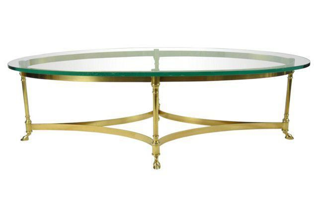 la barge brass and glass coffee table on chairish com stuff to buy rh pinterest at