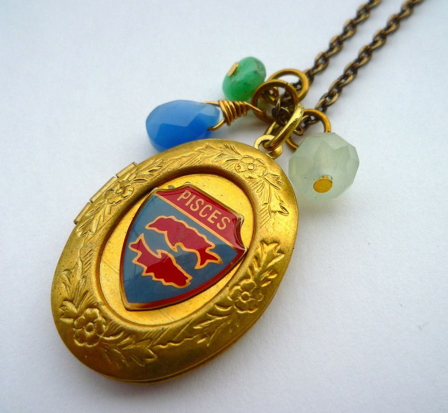 Image of Zodiac Locket Necklace {see other signs}