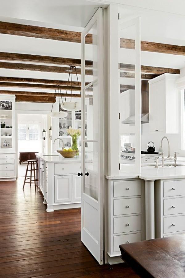 22 Kitchen Ideas white rustic kitchen
