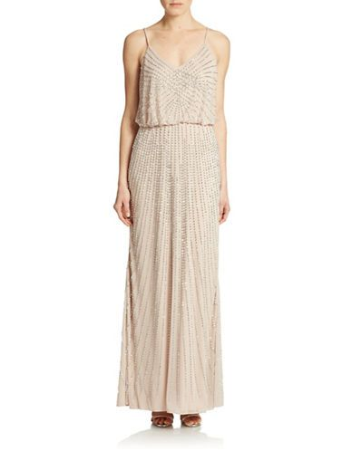 Brands Formalevening Beaded Blouson Gown Lord And Taylor