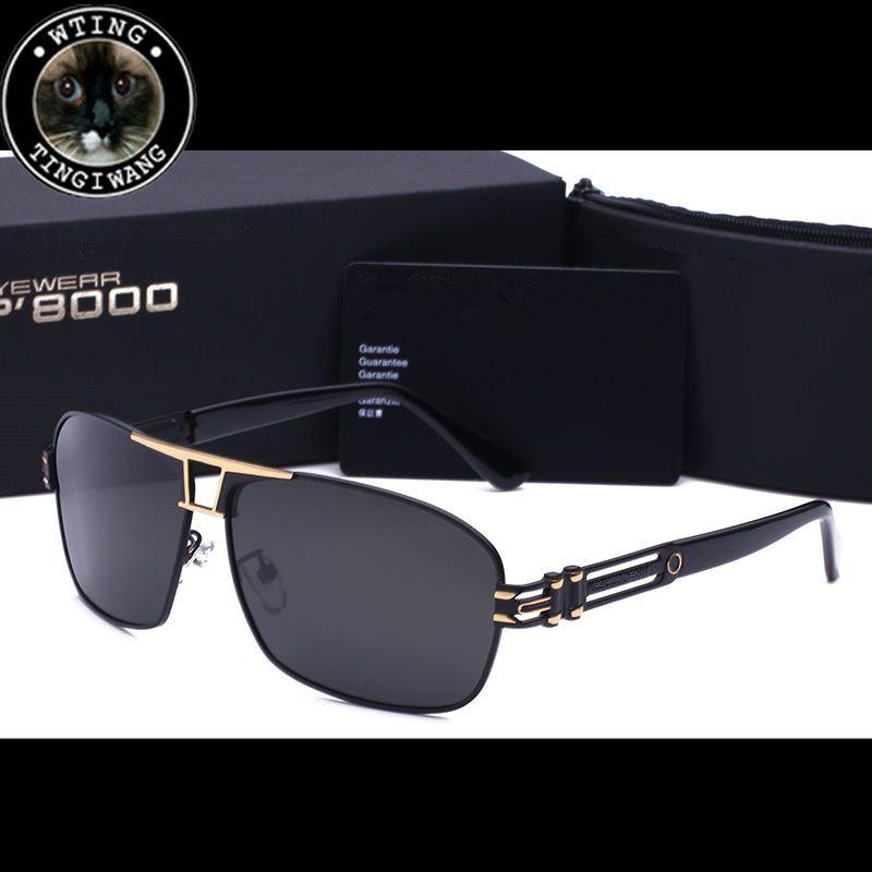 b4d9267b55ae Brand Polarized Men Sunglasses Mirror Oversized Black Square Driver Fishing  Sun Glasses Sports HD Lens Mans