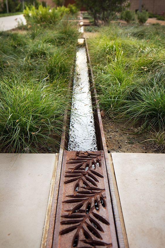 Open drainage channel drainage problem fix pinterest for Landscape channel drain