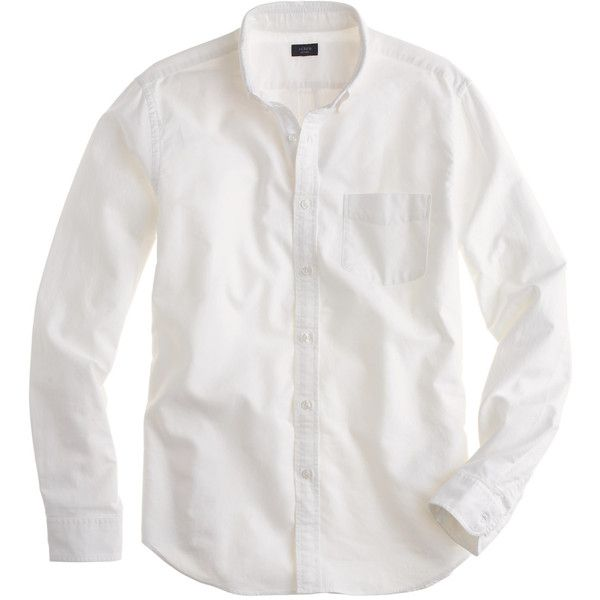 b5010af9682 J.Crew Vintage oxford shirt in white ( 70) ❤ liked on Polyvore featuring  mens