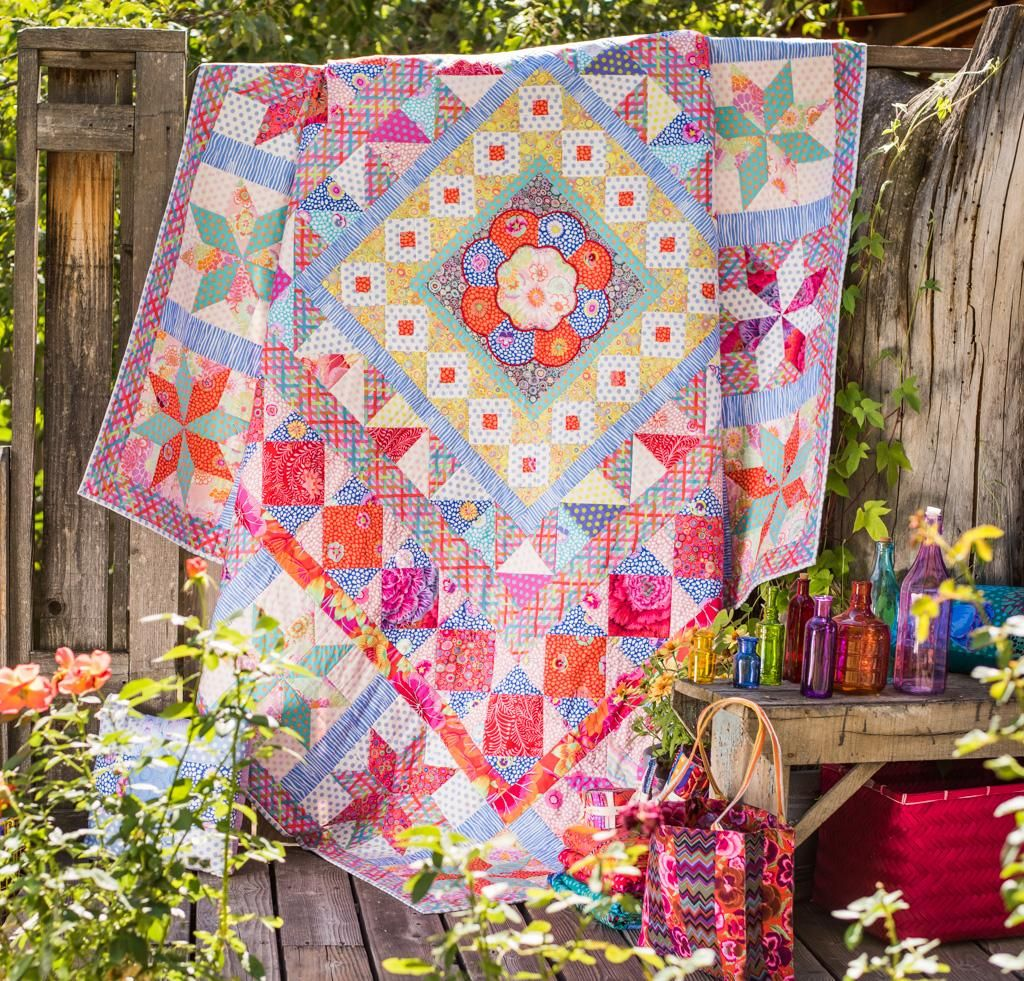 "It may be named after an opulent porcelain design, but there's nothing delicate about the dazzling Imari Plate Quilt Kit from Rowan! You'll receive gorgeous Kaffe Fassett fabric and a pattern to sew this stunning quilt top, which features a unique center motif sure to inspire endless ""oohs and ahhs"". Get yours today, and infuse your favorite room with vivid color and sensational style!"
