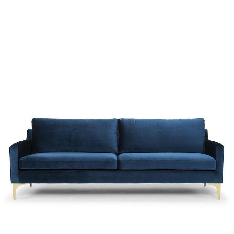 hugo 3 seat velvet sofa blue worthynzhomeware wwworthy co nz rh pinterest com