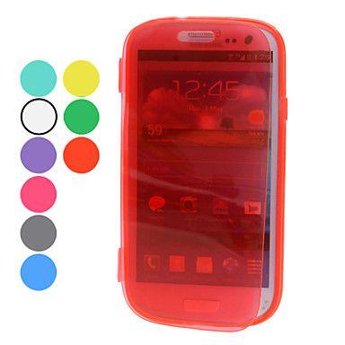 Läpinäkyvä suojus Pehmeä TPU suojakotelo Samsung Galaxy S3 I9300 (eri värejä) – EUR € 4.59