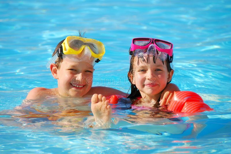 Boy And Girl In Pool Happy Young Boy And Girl Floating In A Pool Aff Pool Happy Boy Girl Young Ad Pool Pool Enclosures Boys