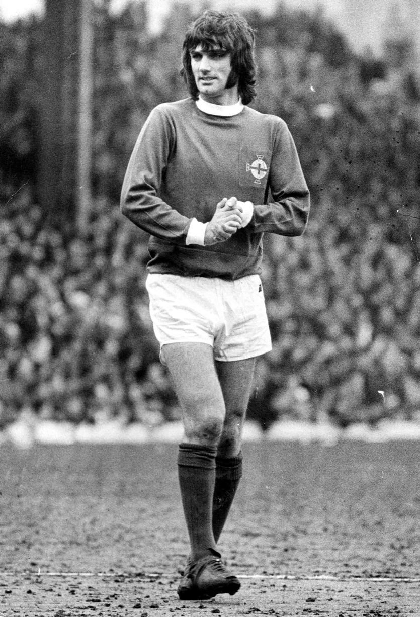 George best of northern ireland in 1969 man utd fc celtic fc man