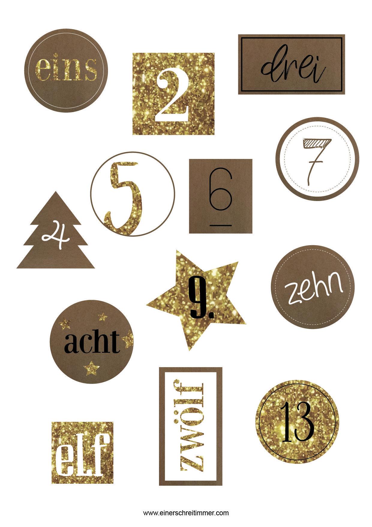 Die Top 11 Adventskalender + kostenlose Zahlen-Aufkleber