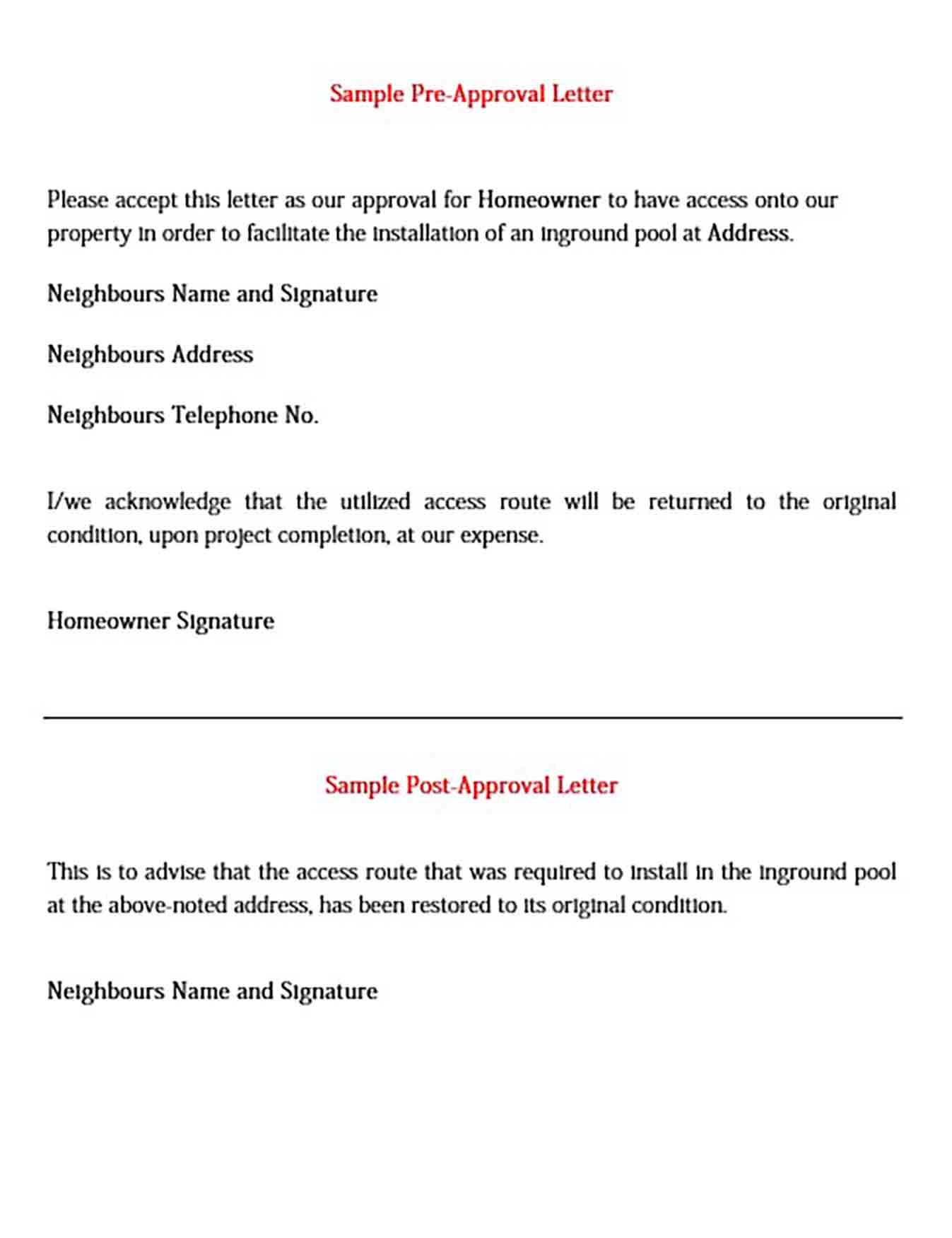 Pre Approval Letter For Doc Pdf And Word Check More At Http