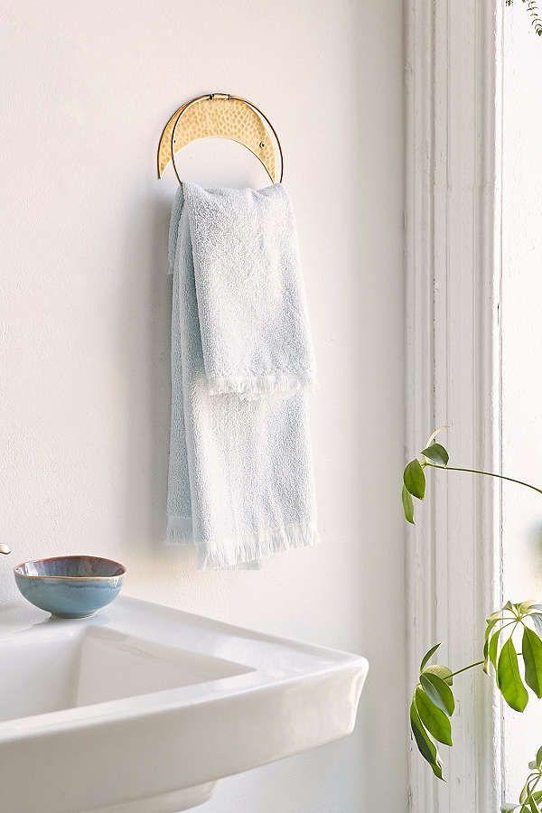view bathroom ideas%0A Crescent Towel Ring