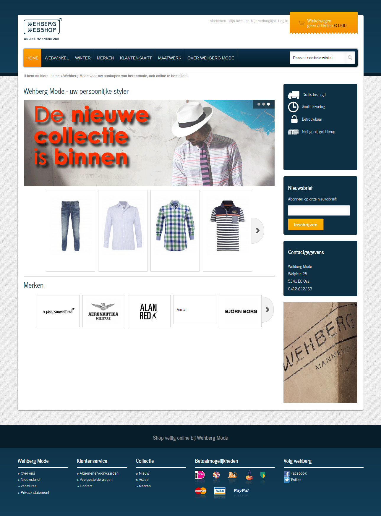 Wehberg fashion Magento webshop made by The Webmen