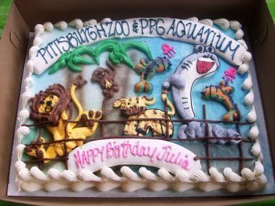 Birthday Cake At The Zoo Party Zoo Birthday Cake Zoo Birthday Zoo Party