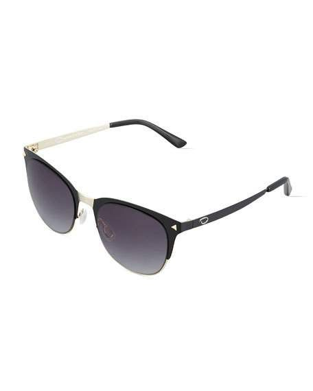 7f978f8f0e517 Oscar de la Renta O by Duo-Tone Rounded Cat-Eye Combo Sunglasses in ...