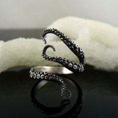 MOTHERS DAY SALE Wicked Tentacle Ring by OctopusMe on Etsy