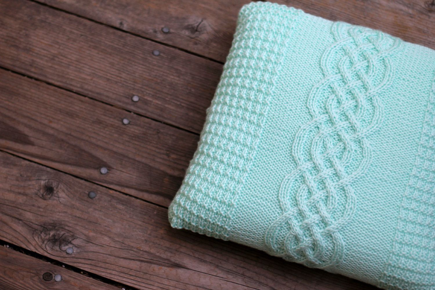 Knit cable pillow case for home decor cable colors and coconut