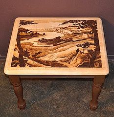 Landscape On Side Table By