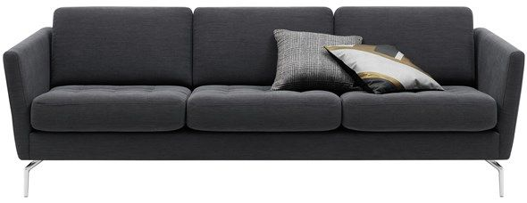 osaka sofa dark grey modern 3 seater sofas quality furniture rh pinterest com