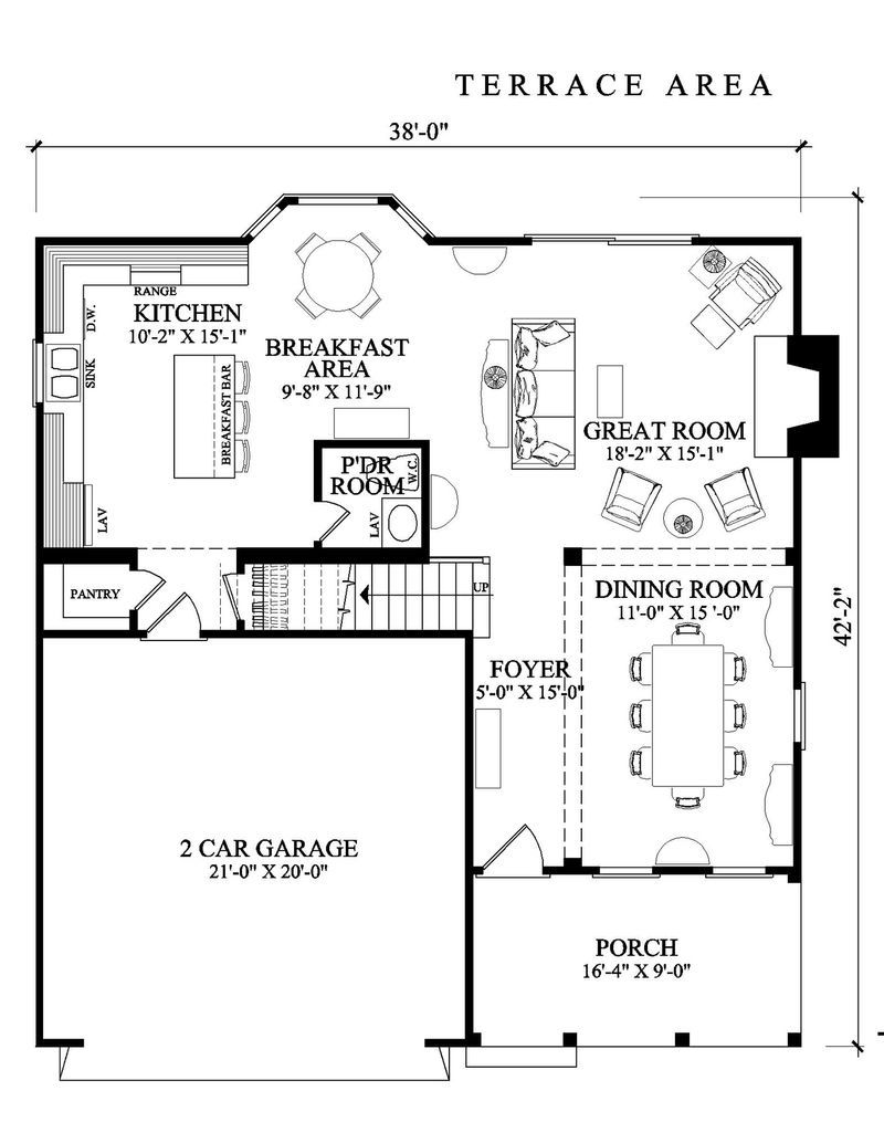 Amazing Square House Plans Large Open Terrace Two Cars Garage Country Style House Plans Cottage Style House Plans Square House Plans