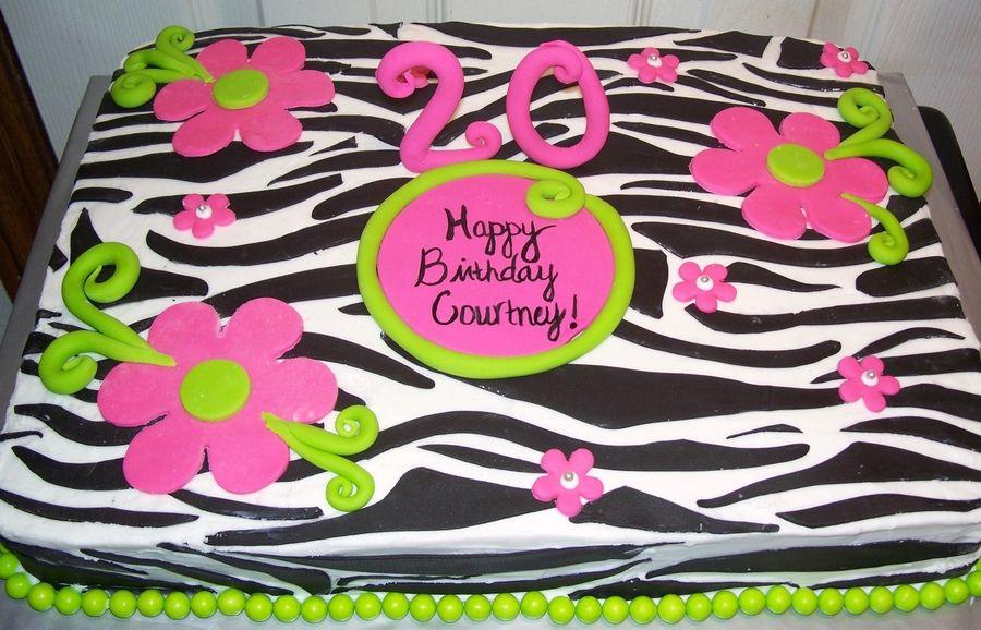 Zebra Print Cakes Zebra Print Sheet Cake Birthday Cakes Photos