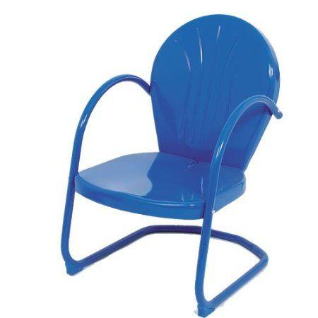 Amazon.com Blue Retro Metal Lawn Chair Furniture Patio Lawn u0026 Garden  sc 1 st  Pinterest & Amazon.com: Blue Retro Metal Lawn Chair Furniture: Patio Lawn ...