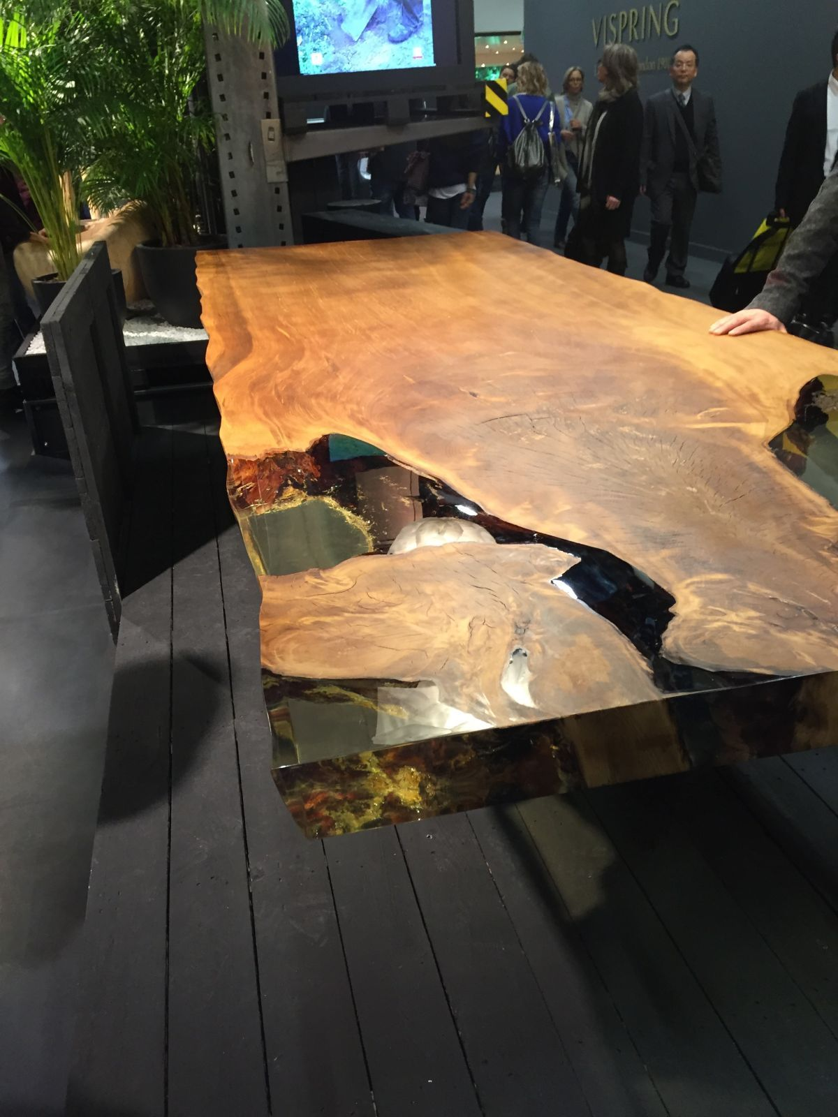 Beautiful Cube Ancient New Zealand Kauri Wood Table