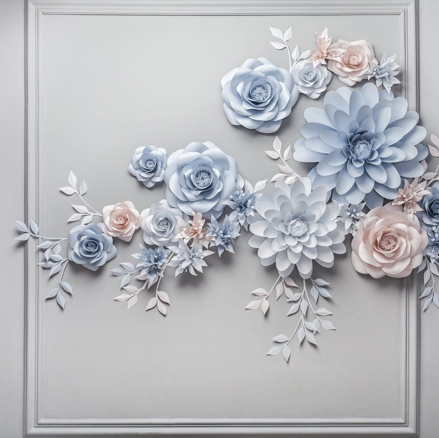 Paper flower backdrop - wedding paper flower backd - Paper Flower Backdrop Wedding #paperflowerswedding