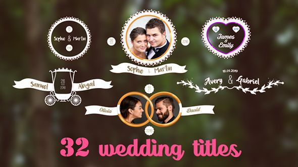 32 Wedding Titles | After Effects | Pinterest | Videography, Motion ...