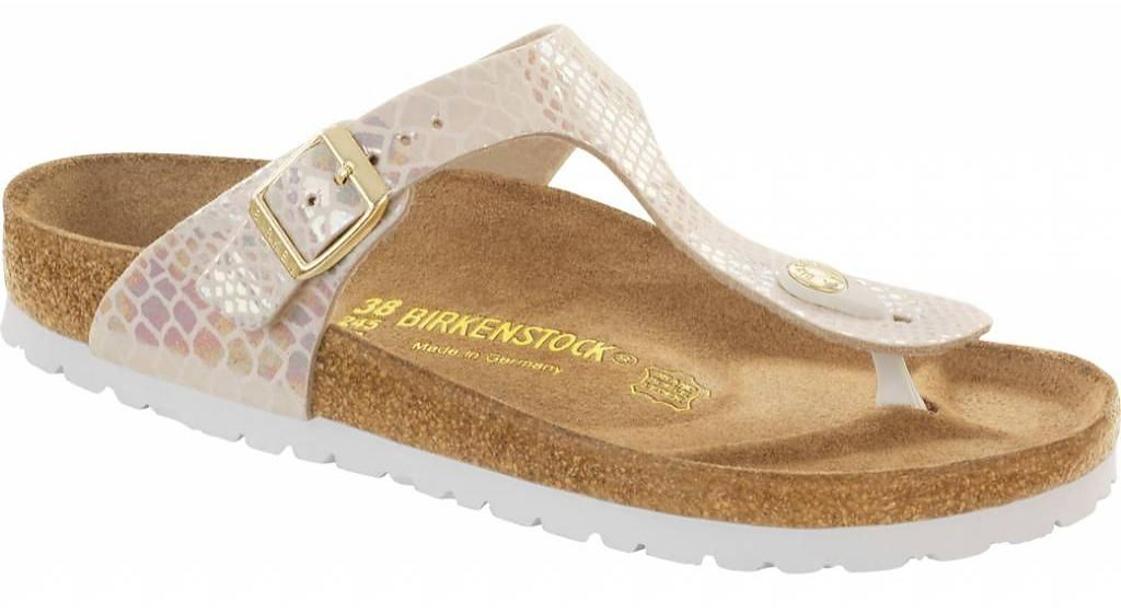 GIZEH Ladies Glitter Buckle Toe Post Sandals Bright Rose