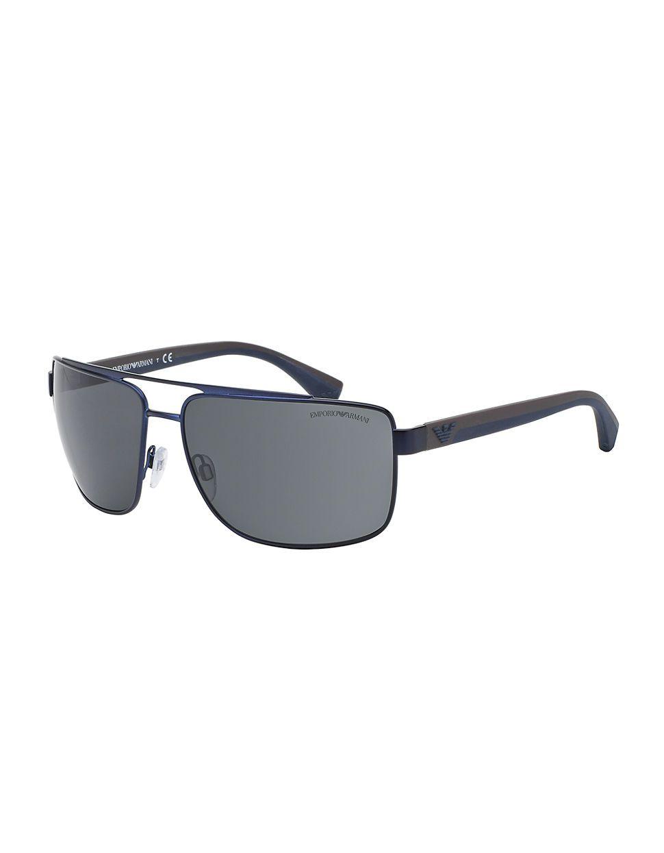 94f6e4272f50 Emporio Armani Metal Navigator Sunglasses in Blue for Men | Lyst ...